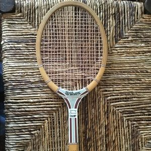 VINTAGE WOOD JIMMY CONNORS AUTOGRAPH RACQUET